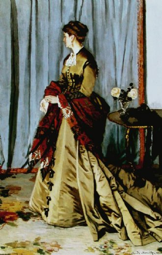 claude monet madame gaudibert painting