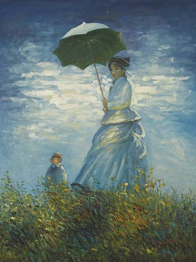 claude monet madame monet and her son ii painting