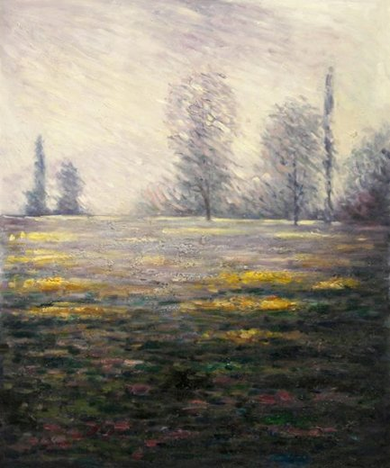 claude monet meadow in giverny painting