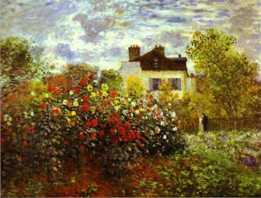 claude monet monet s garden at argenteuil painting