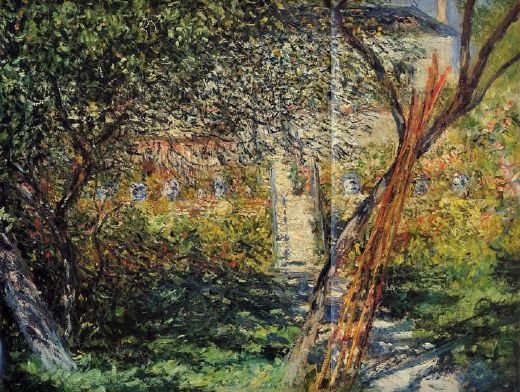 claude monet monet s garden at vetheuil painting