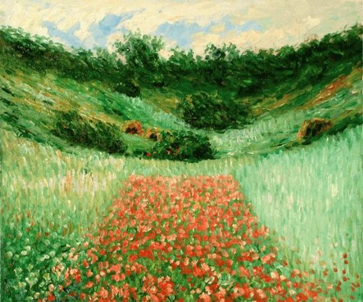 claude monet poppy field in a valley near giverny painting