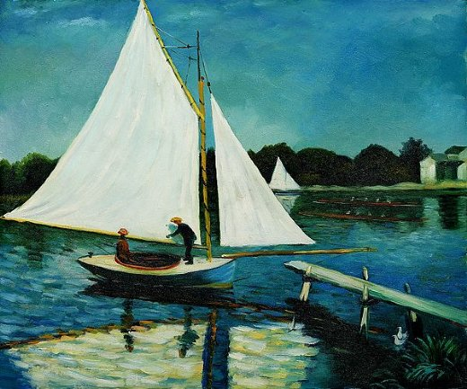 claude monet sailing at argenteuil ii paintings