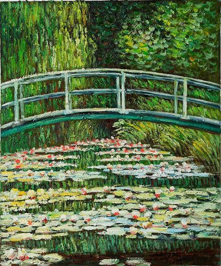 claude monet the japanese bridge ii painting