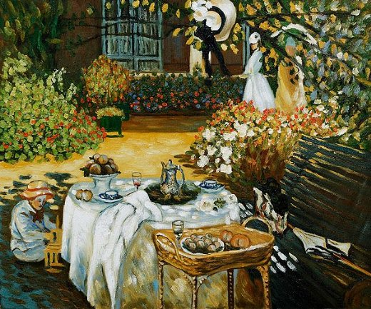 claude monet the luncheon ii paintings