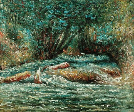 claude monet the river epte at giverny 1883 paintings