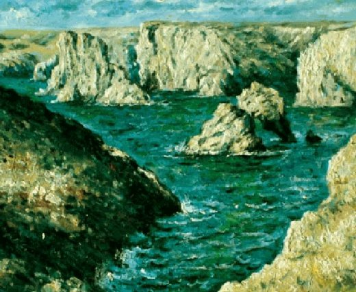 claude monet the rocks at belle painting