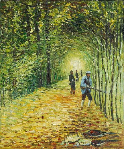 claude monet the shoot the avenue in the park montgeron painting