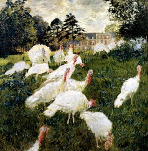 claude monet the turkeys painting