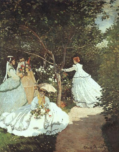 claude monet the women in the garden painting