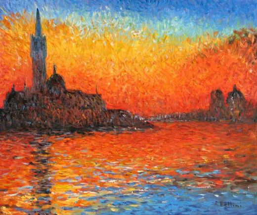 claude monet venice twilight painting