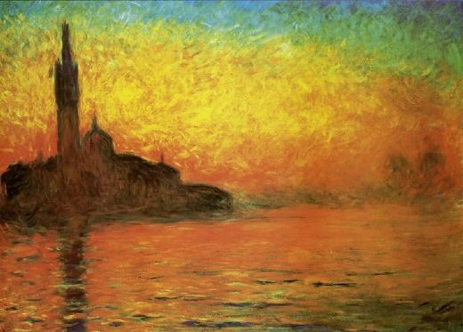claude monet venice twilight dusk paintings