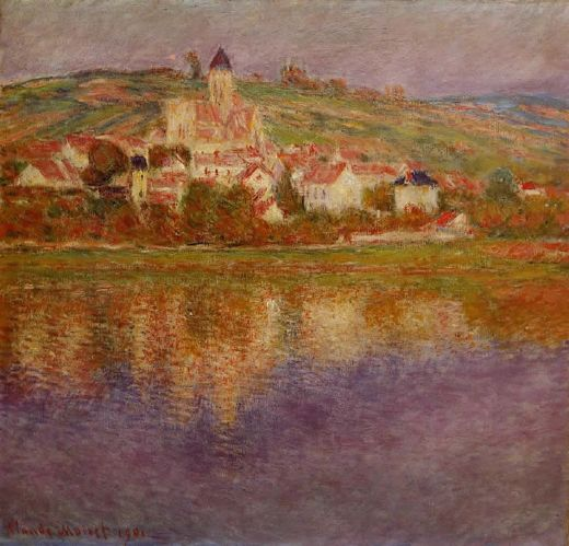 claude monet vetheuil pink effect paintings