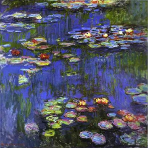 claude monet water lilies 1914 paintings