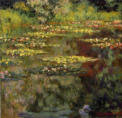 claude monet water lilies 27 painting