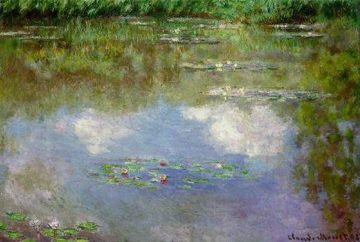 claude monet water lilies the clouds paintings