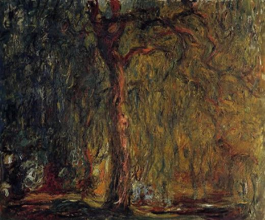 claude monet weeping willow 2 paintings