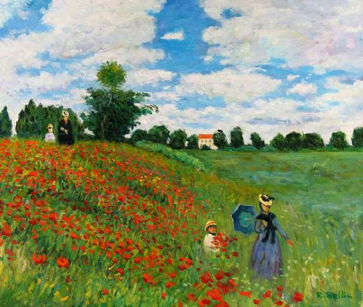 claude monet wild poppies near argenteuil paintings