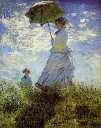 claude monet woman with a parasol paintings