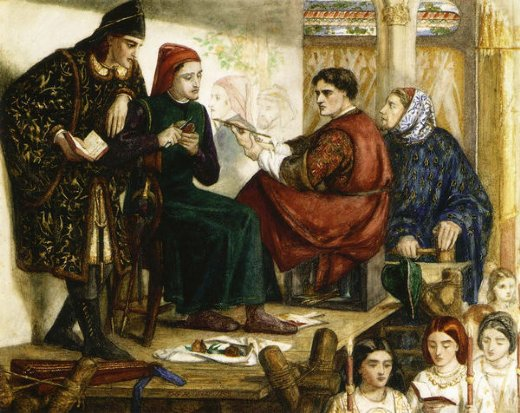 dante gabriel rossetti giotto painting the portrait of dante painting
