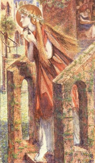 dante gabriel rossetti mary magdalene leaving the house of feasting painting
