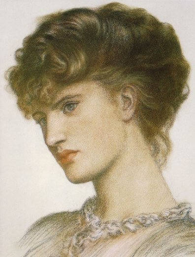 dante gabriel rossetti portrait of a lady painting