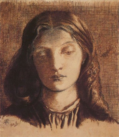 dante gabriel rossetti portrait of elizabeth siddal paintings