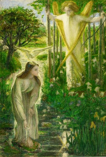 dante gabriel rossetti the annunciation ii painting