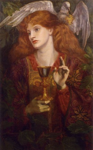 dante gabriel rossetti the damsel of the sanct grael painting