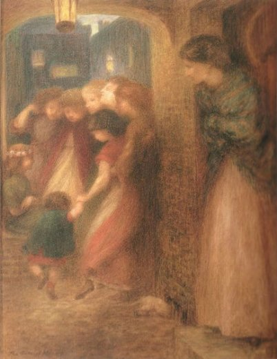 dante gabriel rossetti the gate of memory paintings