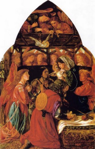 dante gabriel rossetti the seed of david paintings