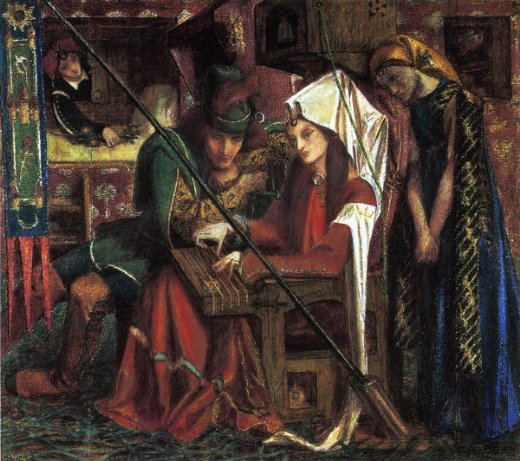 dante gabriel rossetti the tune of seven towers painting