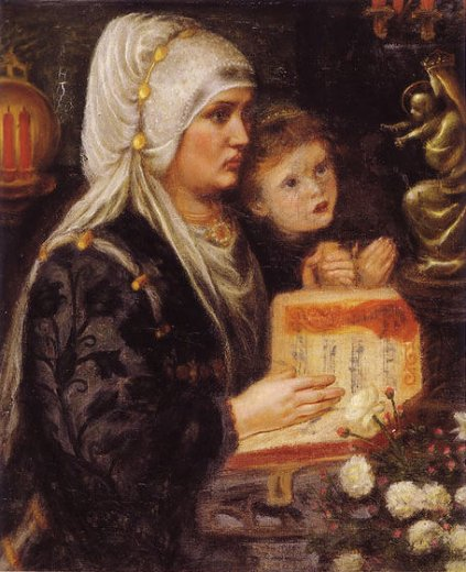 dante gabriel rossetti the two mothers painting