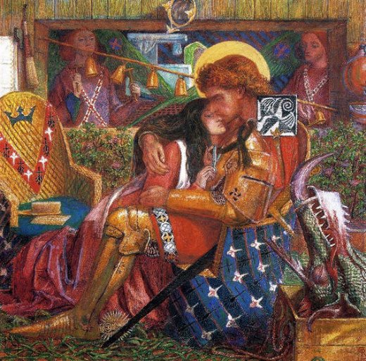 dante gabriel rossetti the wedding of saint george and the princess sabra painting