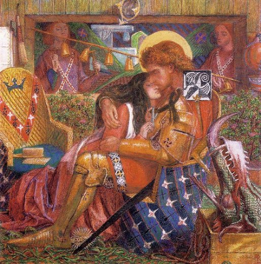 dante gabriel rossetti wedding of st george and the princess the paintings