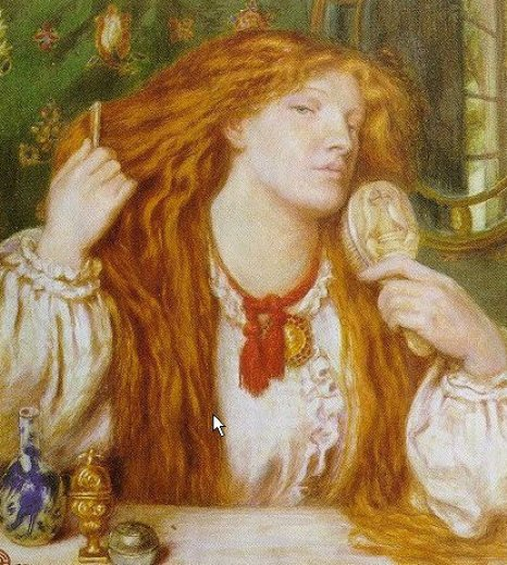 dante gabriel rossetti woman combing her hair painting
