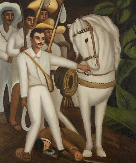 diego rivera agrarian leader zapata painting