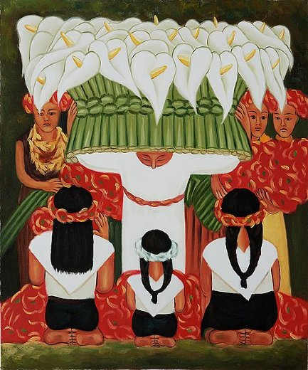 diego rivera flower festival feast of santa anita paintings