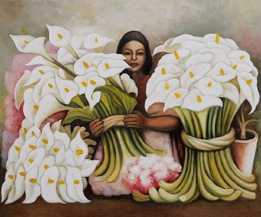diego rivera vendedora de alcatraces painting