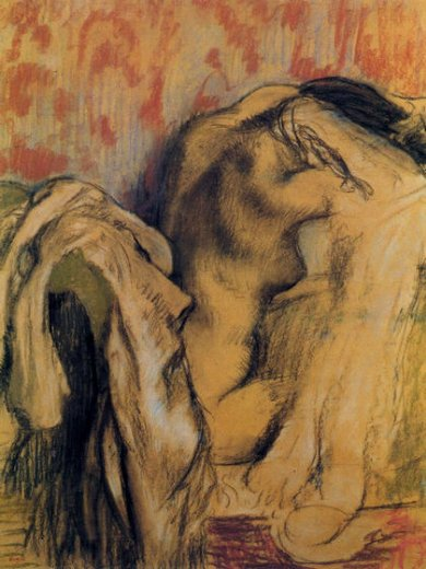 edgar degas after bathing woman drying herself 7 painting
