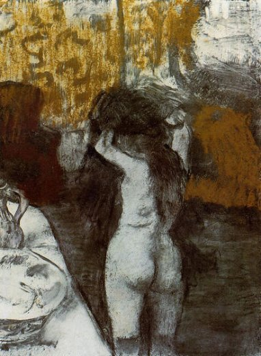 edgar degas after the bath 10 painting