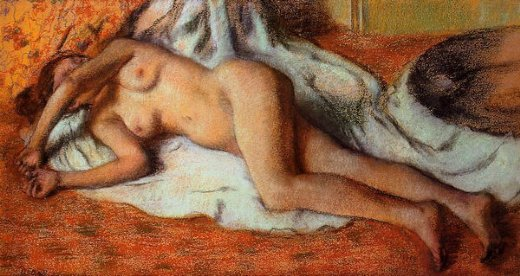 edgar degas after the bath 3 painting