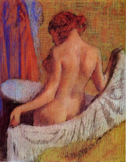 edgar degas after the bath 4 painting