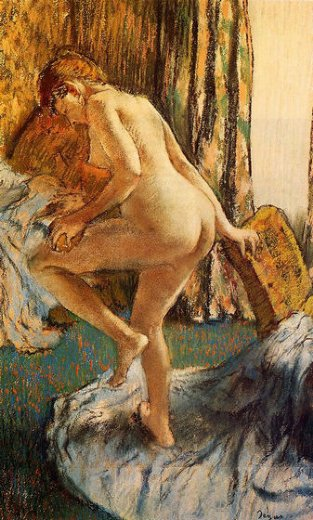 edgar degas after the bath 8 painting