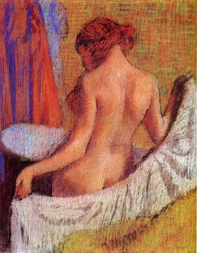 edgar degas after the bath viii painting