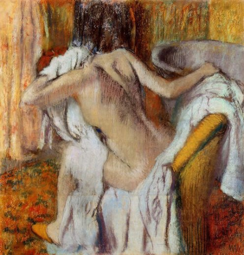 edgar degas after the bath woman drying herself 5 painting