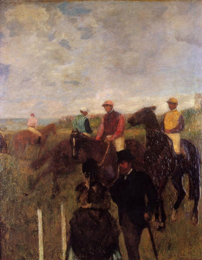 edgar degas at the races ii painting
