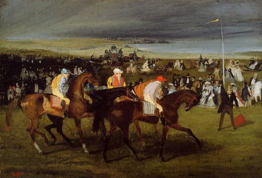 edgar degas at the races the start oil painting