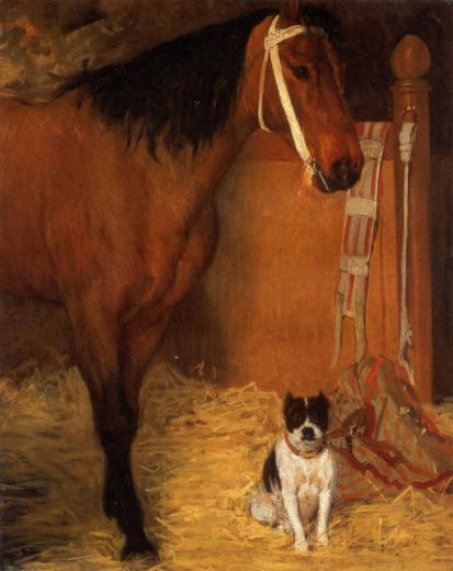 edgar degas at the stables horse and dog paintings