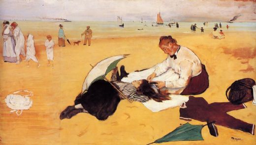 edgar degas beach scene painting